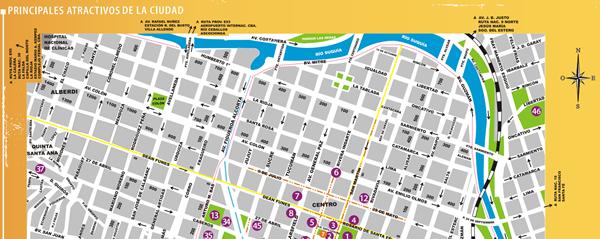 Mapa Turistico Del Centro De La Ciudad De Cordoba Sol De Piedra